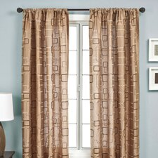 Edrine Rod Pocket Curtain Single Panel