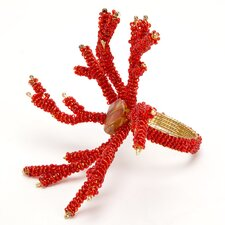 Coral Napkin Rings in Red (Set of 4)