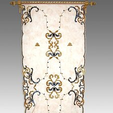 Tudor Applique Net Curtain Single Panel