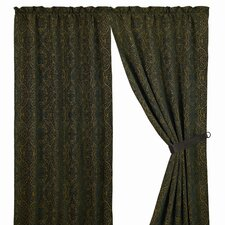 Bella Vista Damask Rod Pocket Curtain Single Panel