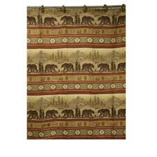 Bear Polyester Shower Curtain