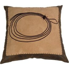 <strong>HiEnd Accents</strong> Barbwire Embroidered Rope Polyester Pillow