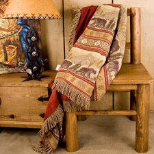 <strong>HiEnd Accents</strong> Bear Reversible Polyester Throw