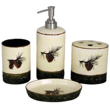 Pinecone 4 Piece Bathroom Set