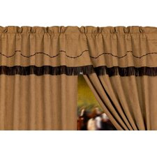 "Barbwire Rod Pocket Ruffled 84"" Curtain Valance"