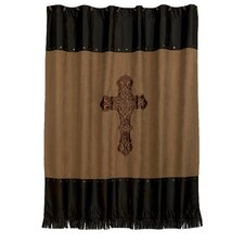 Crosses Faux Suede Shower Curtain