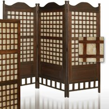 "64"" x 70"" Capice Diamond Decorative 3 Panel Room Divider"