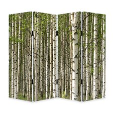 """84"""" x 84"""" Prolific Forest Screen 4 Panel Room Divider"""
