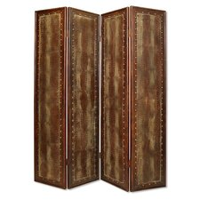"86"" x 76"" Reptillian Screen 4 Panel Room Divider"