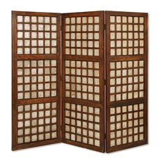 """66"""" x 70"""" Capice Square Screen 3 Panel Room Divider"""