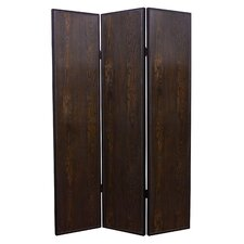 "71"" X 52"" Criss Cross Faux Leather 3 Panel Room Divider"