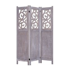 "67"" x 47"" Recoiled 3 Panel Room Divider"