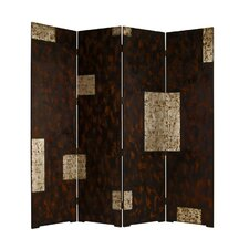 "<strong>Screen Gems</strong> 84"" x 84"" Evolution Decorative Double Sided 4 Panel Room Divider"