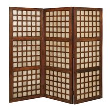 "66"" x 70"" Capice Square Screen 3 Panel Room Divider"