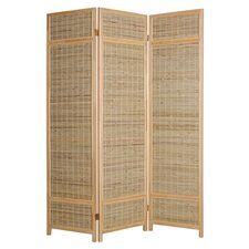 "73"" x 52"" Sheet Bamboo Screen 3 Panel Room Divider"
