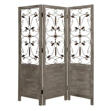 "73"" x 60"" Hampton Screen 3 Panel Room Divider"