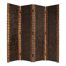 "86"" x 84"" Double Sided Remington Screen 4 Panel Room Divider"