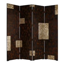 "74"" x 84"" Double Sided Evolution Screen 4 Panel Room Divider"