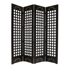 "89"" x 84"" Omega Screen 4 Panel Room Divider"