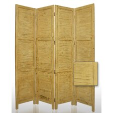 "84"" Nantucket Painted Room Divider in Yellow"