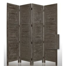 "84"" Nantucket Painted Room Divider in Grey"