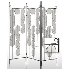 "71"" x 58"" Art Portable 3 Panel Room Divider"