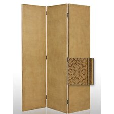 "72"" x 56"" Crushed Bamboo Decorative 3 Panel Room Divider"