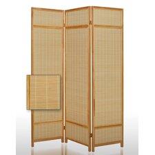 "72"" x 52"" Pompano Pine Folding 3 Panel Room Divider"