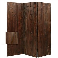 "<strong>Screen Gems</strong> 72"" x 60"" Durango Wooden 3 Panel Room Divider"