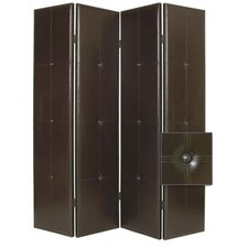 "84"" x 76"" Regent Double Sided 4 Panel Room Divider"