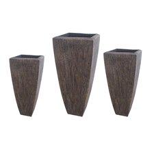 Sandstone Long Square Planters (Set of 3)