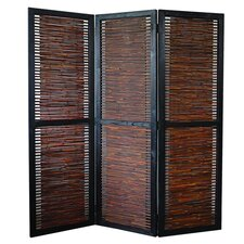 "72"" x 60"" Kailua Screen 3 Panel Room Divider"
