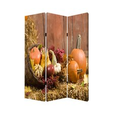 "<strong>Screen Gems</strong> 71"" x 47"" Harvest Screen 3 Panel Room Divider"