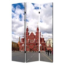 "<strong>Screen Gems</strong> 71"" x 47"" Russia 3 Panel Room Divider"