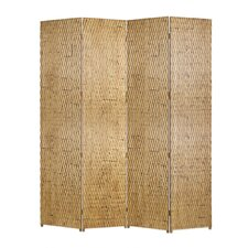 """87"""" x 84"""" Gilded Screen 4 Panel Room Divider"""