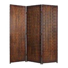 "74"" x 63"" Danyl Screen 3 Panel Room Divider"