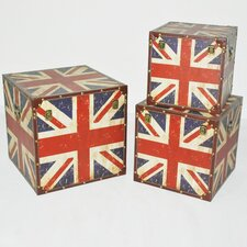 <strong>Screen Gems</strong> Union Jack Trunk (Set of 3)
