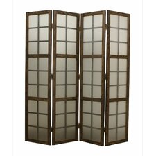 "<strong>Screen Gems</strong> 71"" x 71"" Eglomise 4 Panel Room Divider"
