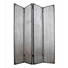 "<strong>Screen Gems</strong> 83"" x 63"" Industrial 4 Panel Room Divider"