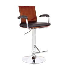 <strong>AC Pacific</strong> Swivel Bar Stool with Cushion