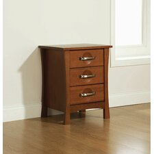 Orient 3 Drawer Bedside Table