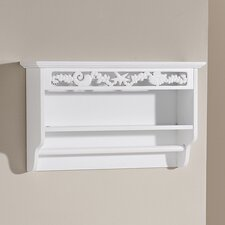Corella Towel Rail with Shelf in White