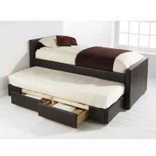 Single Trundle Bed Frame with 2 Drawers