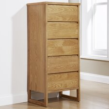 Chloe Cherry 5 Drawer Chest