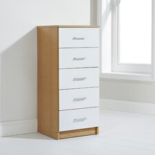 Oslo 5 Drawer Tallboy Chest