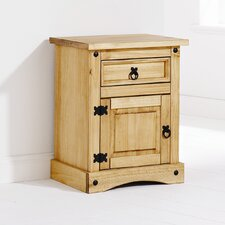 Maria 1 Drawer Bedside Table