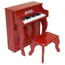 Elite Spinet Piano in Red