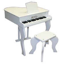 Elite Baby Grand Piano in White