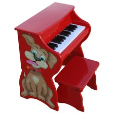 <strong>Schoenhut</strong> 25 Key Doggy Piano & Bench in Red