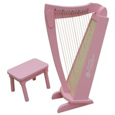 15 String Harp in Pink